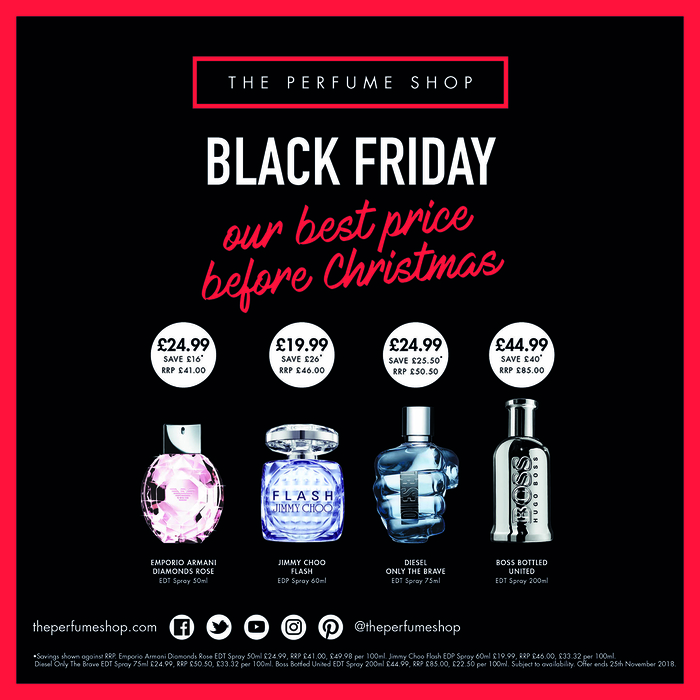 0773ef174 Black Friday Offers at The Perfume Shop – Our best price before Christmas!