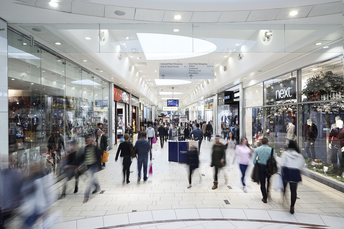 A view down the mall in Frenchgate Shopping Centre