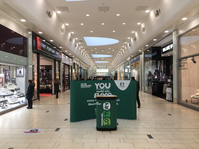 Example mid mall stand within the Frenchgate Shopping Centre