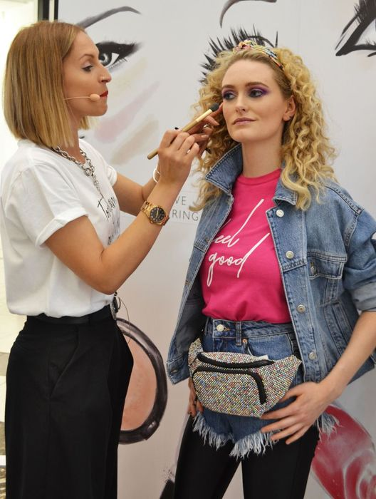 11 - Rowena applying make up to her model